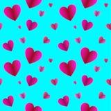 Vector Semless Pattern, Hearts on Light Blue Background, Valentines Day Background. Vector Semless Pattern, Hearts on Light Blue Background, Valentines Day stock illustration