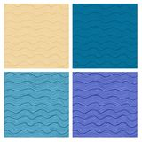 Vector semless pattern set Royalty Free Stock Photos