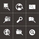 Vector seo icon set Royalty Free Stock Photography