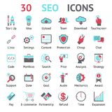 Vector 30 SEO icons royalty free illustration