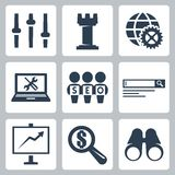 Vector seo icons set #3 Stock Image