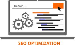 Vector - seo optimization Royalty Free Stock Images