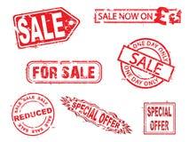 Vector, serie de los sellos de goma de la venta Fotografía de archivo libre de regalías