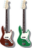 Vector series. Electric bass Royalty Free Stock Photos