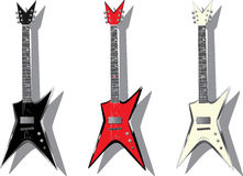 Vector Series. Electric Guitars Stock Images