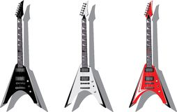 Vector series. Electric guitars Royalty Free Stock Photography