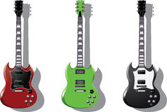 Vector series. Electric guitars Stock Photography