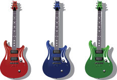 Vector series. Electric guitars Royalty Free Stock Photo