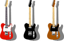 Vector series. Electric guitars Royalty Free Stock Images