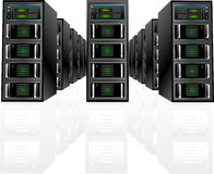 Vector Server Array Royalty Free Stock Photography