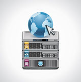 Vector server icon. Detailed icon representing server and its features Stock Photo