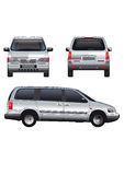 Vector service car template Royalty Free Stock Photo