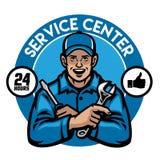 Service center worker badge. Vector of service center worker badge stock illustration