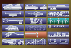 Vector services banners set Stock Image