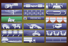 Vector services banners set. Royalty Free Stock Images