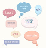 Vector set of 3D speech bubbles. Set of speech and thought elements, illustration, eps10 stock illustration