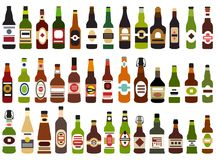 Vector set of abstract alcohol bottles isolated on white background. Vector set of abstract alcohol bottles isolated on white Stock Photo