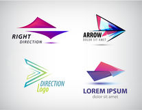 Vector set of abstract arrow icon, logos design template. Corporate, identity, company, brand, branding logotype Royalty Free Stock Image