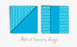 Vector set of abstract background with braids geometric shapes and copy space frame. Paper cut style templates for. Vector set of abstract avangarde retro Royalty Free Stock Photography