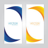 Vector set Abstract background with curved blue Orange colors. Space. Vector Abstract background with curved blue Orange colors. Space two your text. EPS10 Stock Illustration