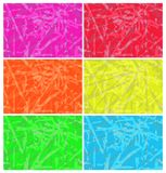 Vector set of abstract backgrounds yellow orange blue red green. Pink Stock Images