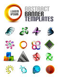 Vector set of abstract banner shapes Royalty Free Stock Photography