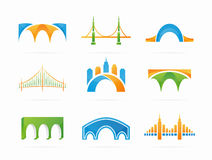 Vector set of abstract bridge connection logo Stock Photography