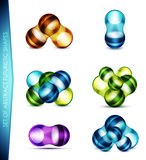 Vector set of abstract bubble shapes Royalty Free Stock Photo