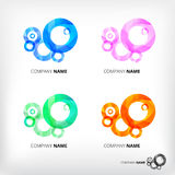 Vector set of abstract circle elements Royalty Free Stock Images