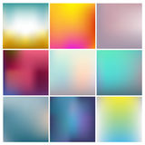 Vector set of abstract. Colorful unfocused backgrounds Stock Photos
