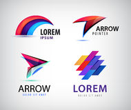 Vector set of abstract 3d colorful logos. Stock Images