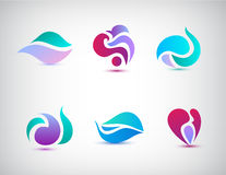 Vector set of abstract floral icons Stock Image