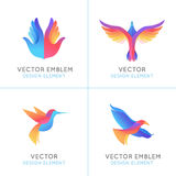 Vector set of abstract gradient emblems Royalty Free Stock Image
