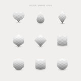Vector set of abstract grey shapes Royalty Free Stock Photos