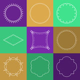 Vector set of abstract hipster logo Royalty Free Stock Photography