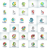 Vector set of abstract letter business logo icons Stock Photos
