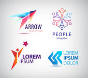 Vector set of abstract logo design, arrow Royalty Free Stock Image