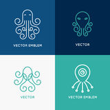 Vector set of abstract logo design templates Stock Photos
