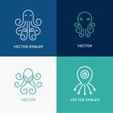Vector set of abstract logo design templates Stock Photos