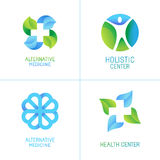 Vector set of abstract logos and emblems Stock Photography