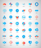Vector set of 42 abstract logos, icons. Collection of identity signs royalty free illustration