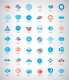 Vector set of 42 abstract logos, icons Stock Photos