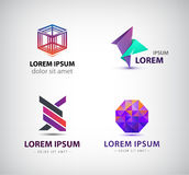 Vector set of abstract logos, icons  Stock Photo