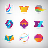 Vector set of abstract logos, icons. minimal elements for business identity. Stock Photography