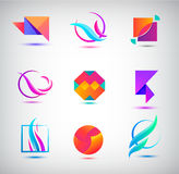 Vector set of abstract logos, icons. minimal elements for business identity. Stock Photo
