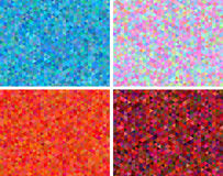 Vector set of abstract low polygon backgrounds. Triangular backdrops in bright colors Stock Photo