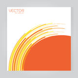 Vector set Abstract orange background on gray background Royalty Free Stock Images