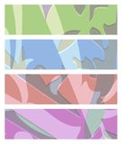 Vector set of abstract rectangular banners of green blue red pur Royalty Free Stock Image