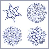 Vector Set of Abstract Sacred Geometry Symbols. Royalty Free Stock Images