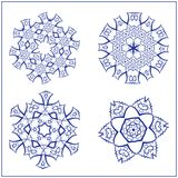 Vector Set of Abstract Sacred Geometry Symbols. Royalty Free Stock Image